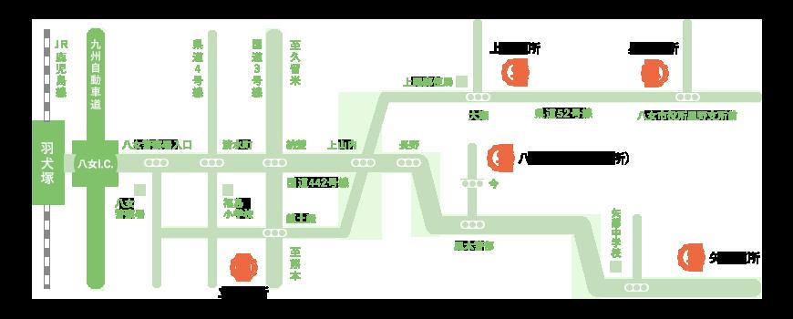 各施設へのアクセスマップ