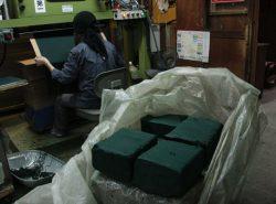 線香のブロック(原料)